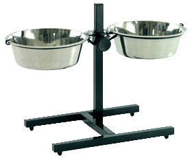 תמונה של צלחות אוכל ושתיה לכלבים גבוהים וגדולים