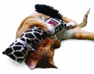 כרית בדמות חתול שמכילה קטניפ להרבה שעות של פנאי והנאה.